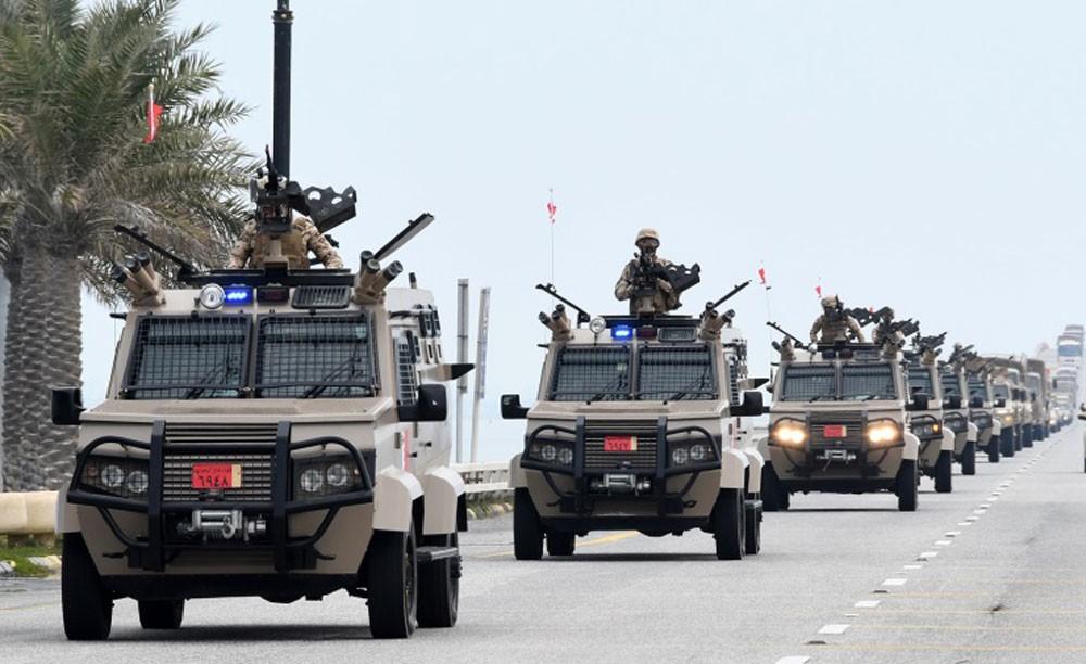 مجموعة القتال البرية تغادر البلاد للمشاركة في تمرين درع الجزيرة 10