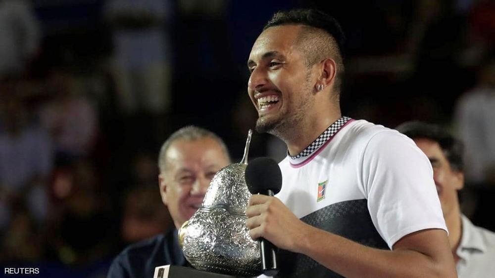 كيريوس يهزم زفيريف ليفوز ببطولة أكابولكو للتنس