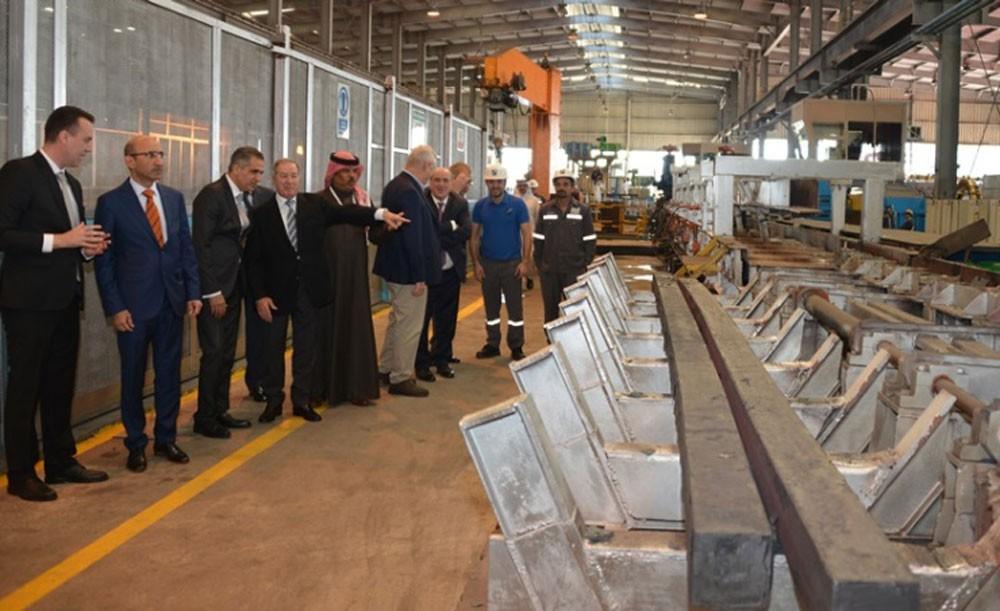 افتتاح مصنع يونيفرسال رولنج لإنتاج حديد التسليح