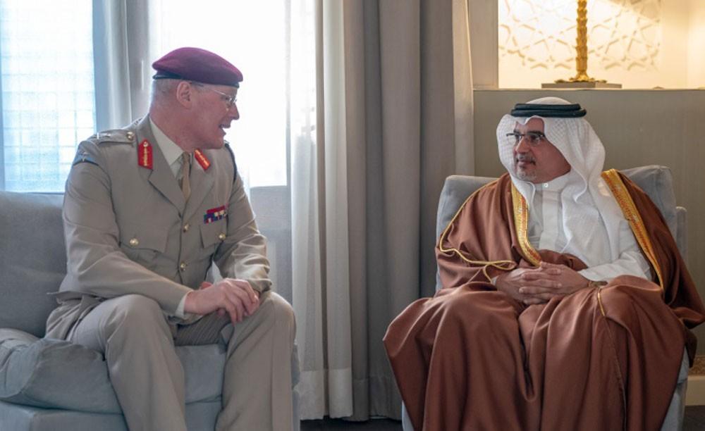 نائب جلالة الملك يشيد بالعلاقات المتميزة بين البحرين والمملكة المتحدة