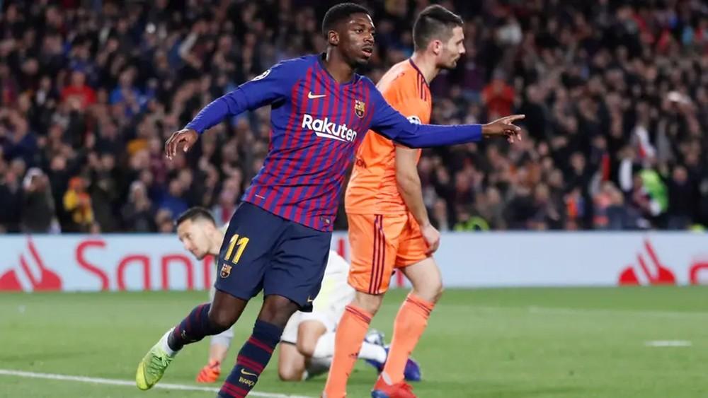إصابة ديمبلي تتفاقم وغيابه عن مواجهة أتلتيكو مدريد