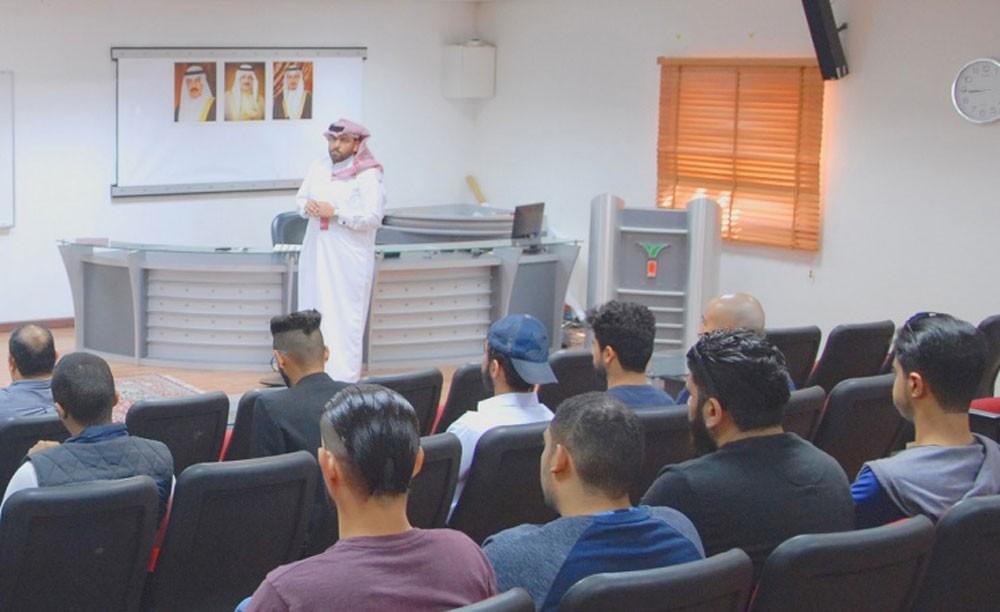 معهد التدريب ينظم محاضرة لمتدربي هندسة المركبات