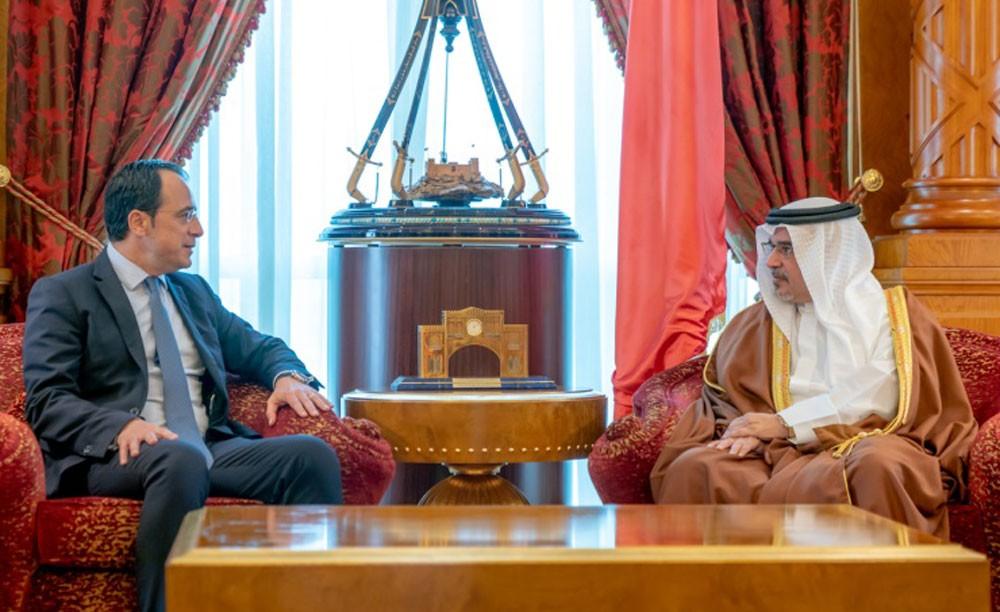 نائب جلالة الملك يلتقي وزير خارجية جمهورية قبرص