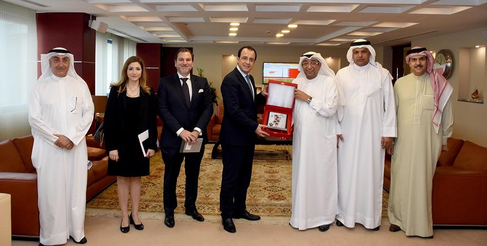 الغرفة تبحث سبل تنمية العلاقات الاقتصادية البحرينية القبرصية