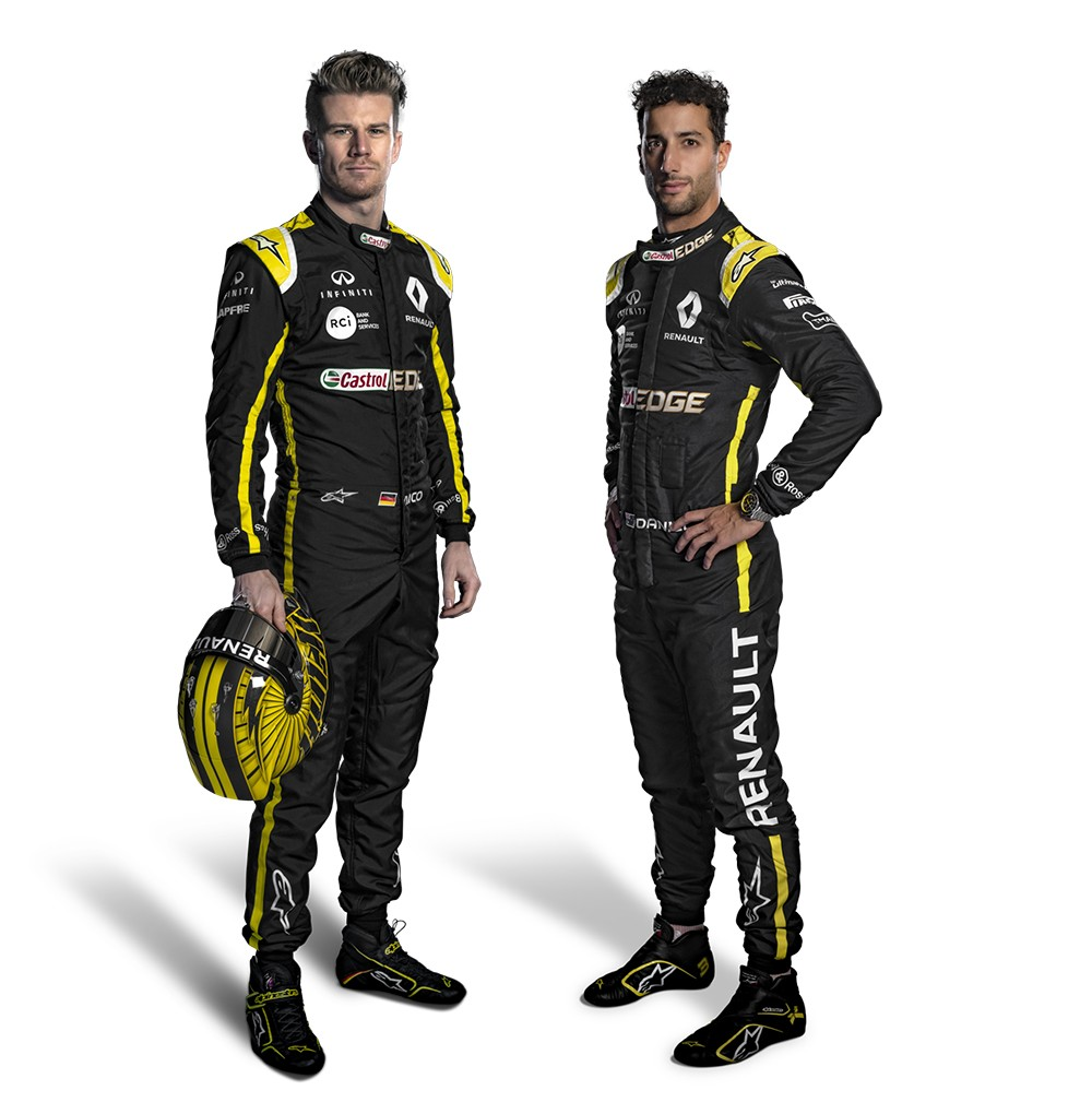 فريق رينو بسائقيه دانيال ريكاردو و نيكو هالكنبيرغ