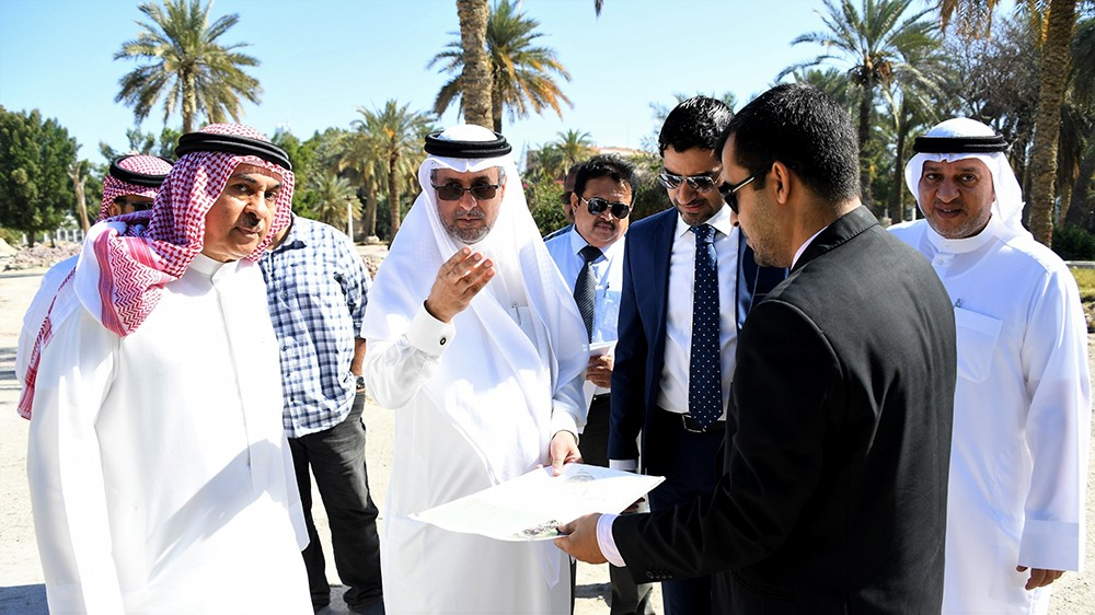 أبو الفتح يتفقد سير العمل في المرحلة الثانية لمشروع تطوير الحديقة المائية