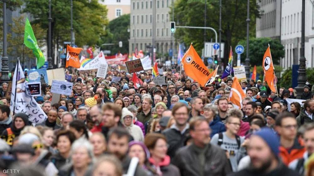 """آلاف الألمان يحتجون على """"إصلاحات الإنترنت"""" في أوروبا"""