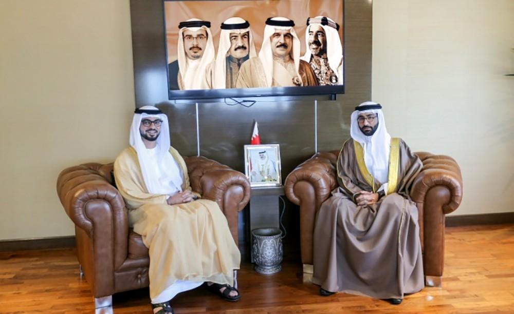 المؤيد يبحث مع سفير الإمارات التنسيق الشبابي والرياضي