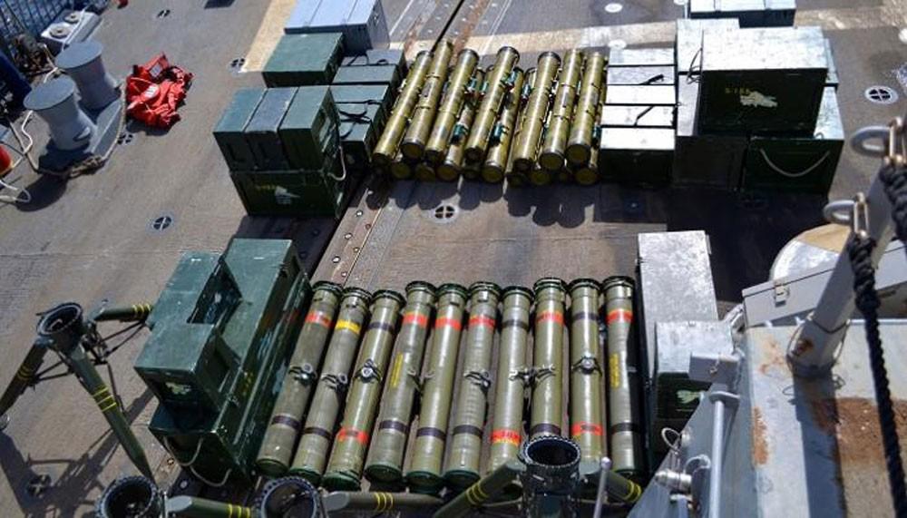 اليمن.. ضبط شحنة صواريخ كانت في طريقها للحوثيين