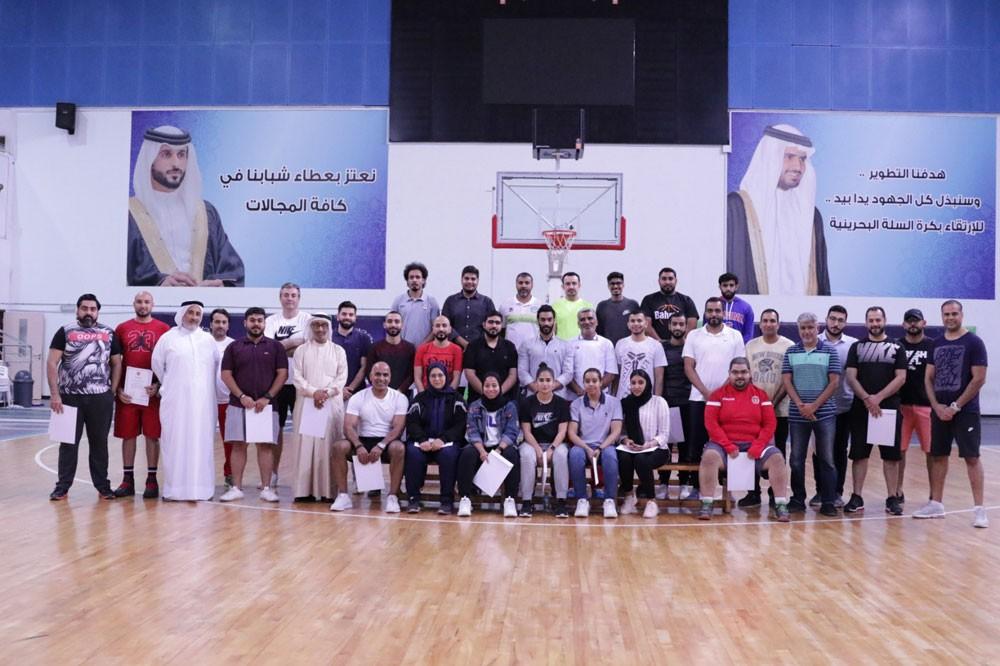 ختام دورة المستوى الأول لمدربي كرة السلة