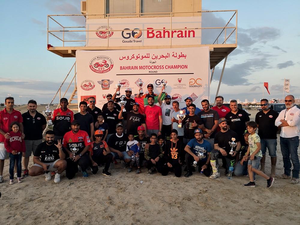 نادي البحرين للدراجات النارية يسجل نجاحاً متميزاً بختامية وطنية الموتوكروس على الحلبة الصحراوية