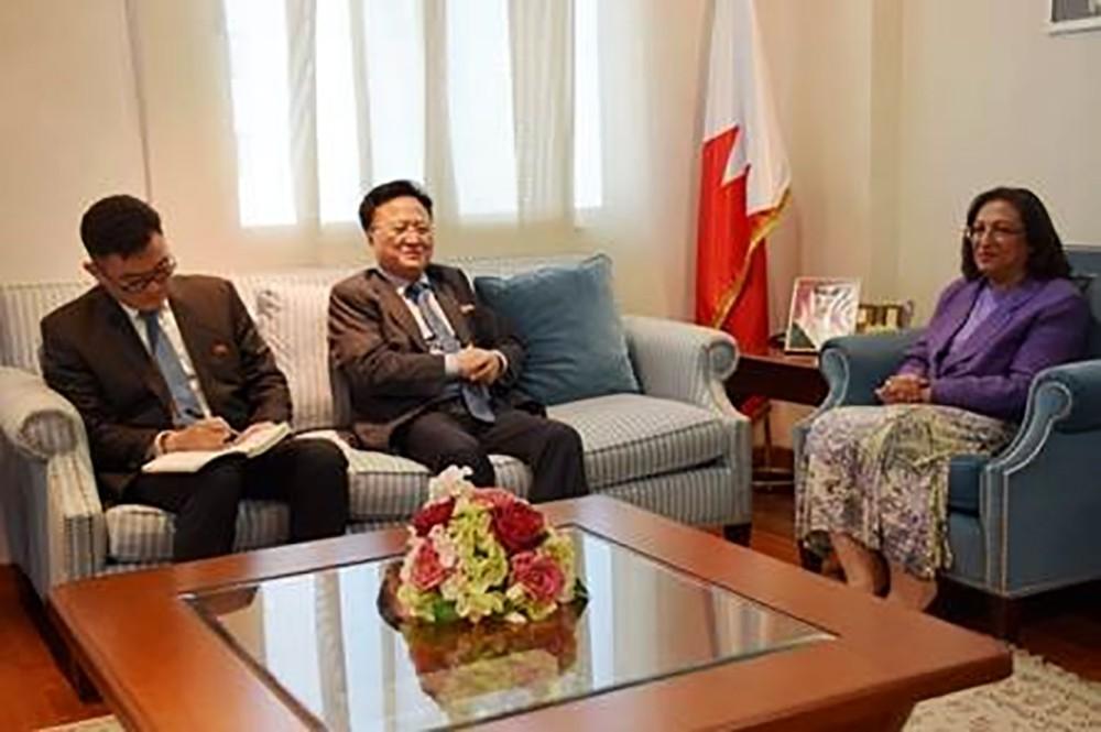 وزيرة الصحة تبحث مع القائم بأعمال سفير كوريا الديمقراطية الشعبية تعزيز التعاون