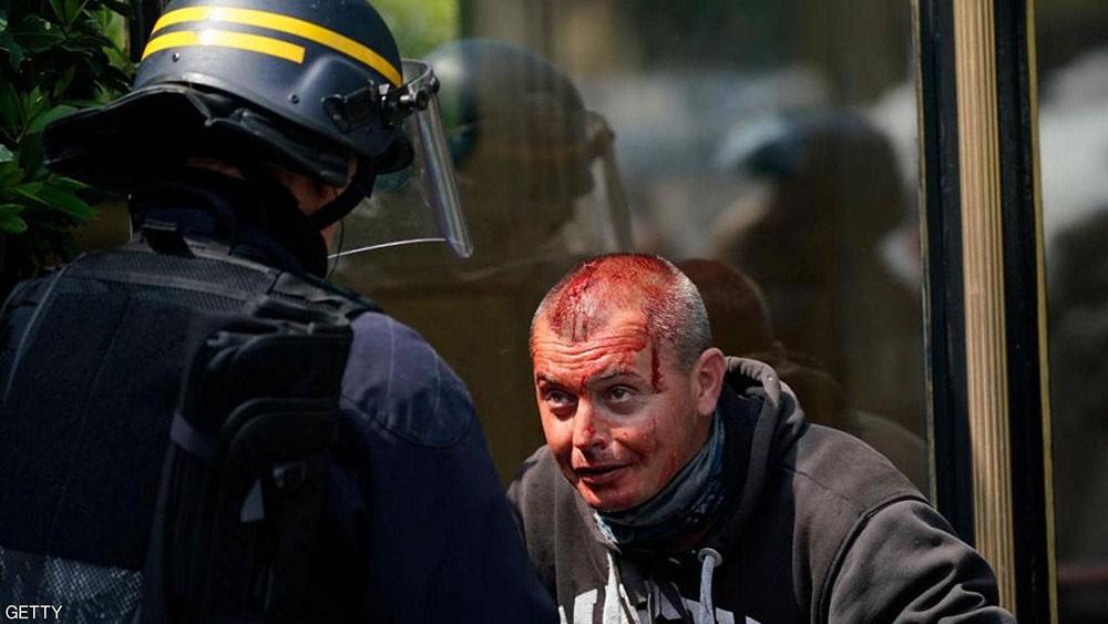 فرنسا.. قنابل غاز ومصادمات خلال تظاهرات يوم العمال
