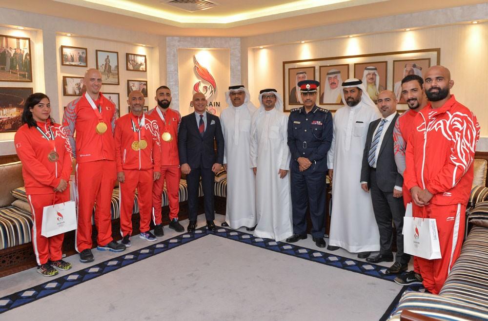 النصف يستقبل منتخب الجوجيتسو الحائز على 4 ميداليات بعالمية أبوظبي