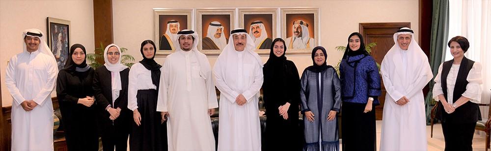 حميدان يستقبل رئيسة وأعضاء مجلس إدارة جمعية الموهبة والإبداع