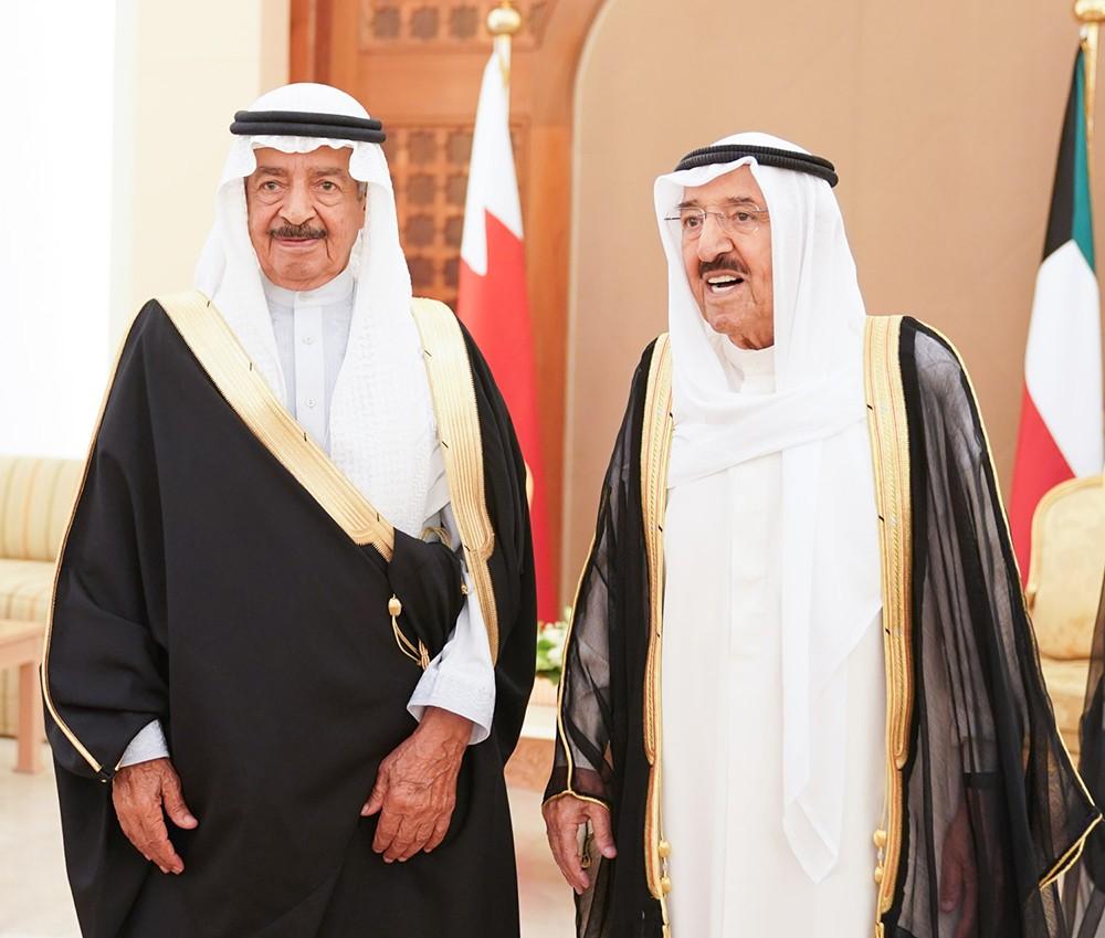 امير دولة الكويت يستقبل سمو رئيس الوزراء