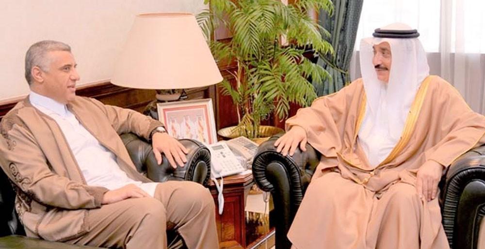 حميدان يشيد بدور سفير ليبيا في تنمية العلاقات الثنائية