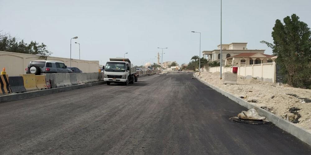 """""""الأشغال"""": 35% نسبة الإنجاز في مشروع تطوير شارع سار مع تقاطع شارع 35"""