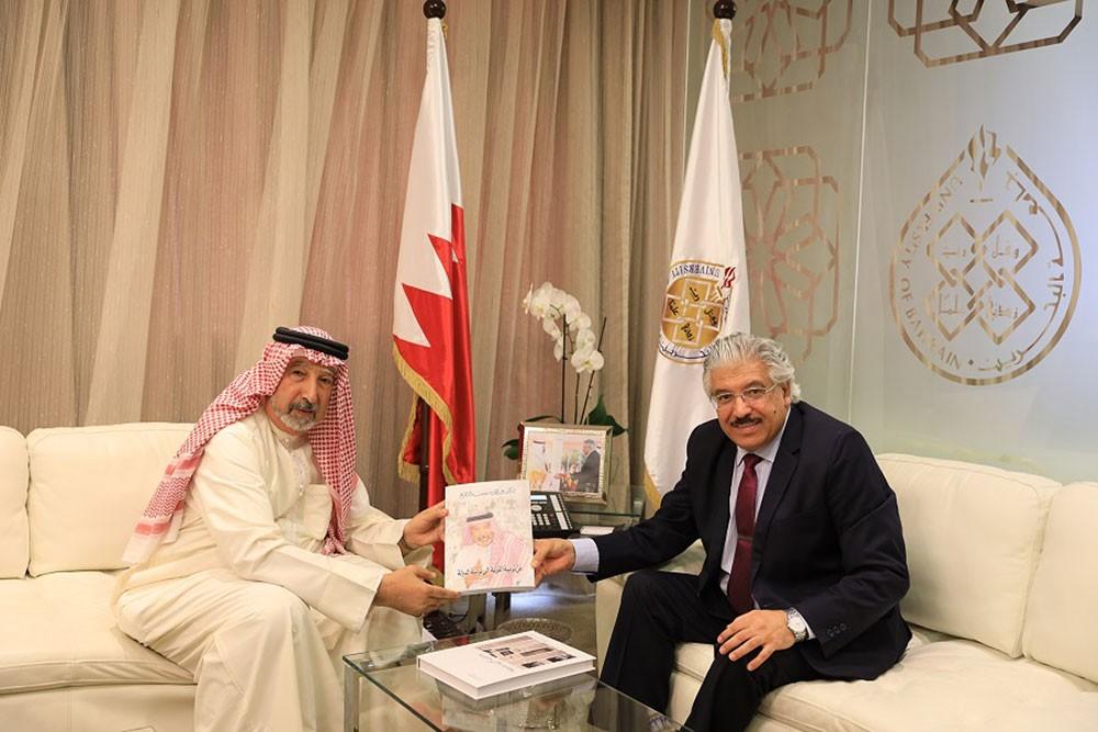 رئيس جامعة البحرين يستقبل د. المطوع