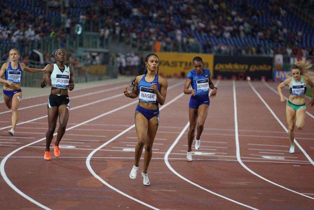 سلوى عيد بطلة جولة روما بالدوري الماسي لسباق 400 متر
