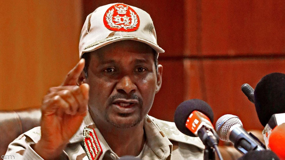 حميدتي يتهم أطرافا بمحاولة إحداث الفتنة في السودان
