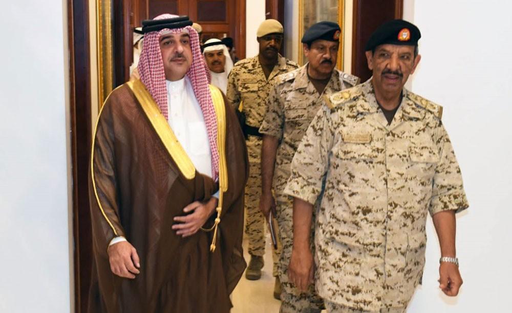 القائد العام يستقبل سمو الممثل الشخصي لجلالة الملك