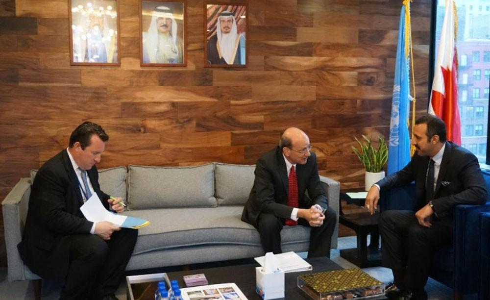 عبدالله بن أحمد يبحث تعزيز التعاون مع الأمم المتحدة