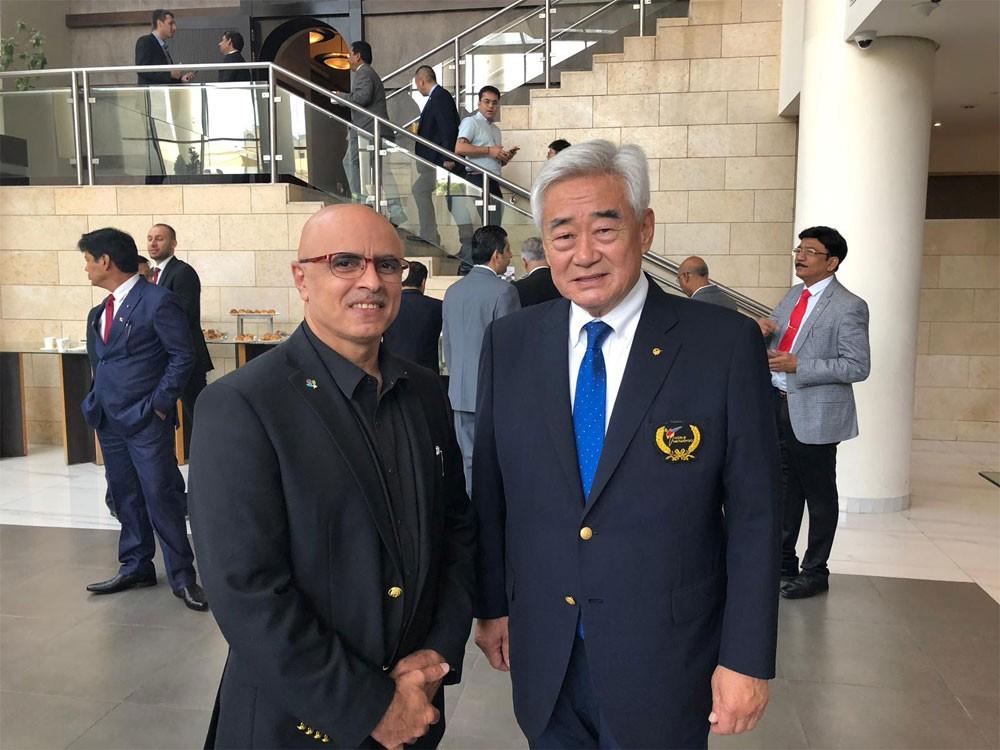 رئيس اتحاد التايكواندو يشارك في الجمعية العمومية للاتحاد العالمي بالأردن