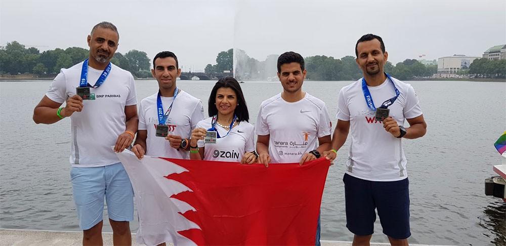 فريق بحريني يتمكن من تحقيق نتائج ايجابية في سباق هامبورج للرجل الحديدي
