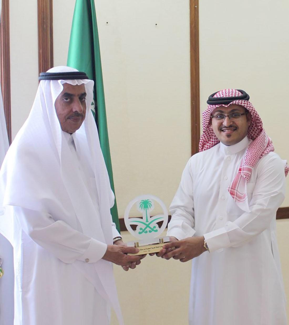 السفير السعودي يكرم الفنان عصام الدعيس