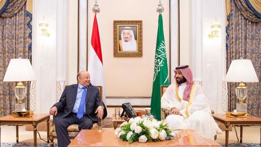 الأمير محمد بن سلمان يبحث مع هادي التطورات في عدن