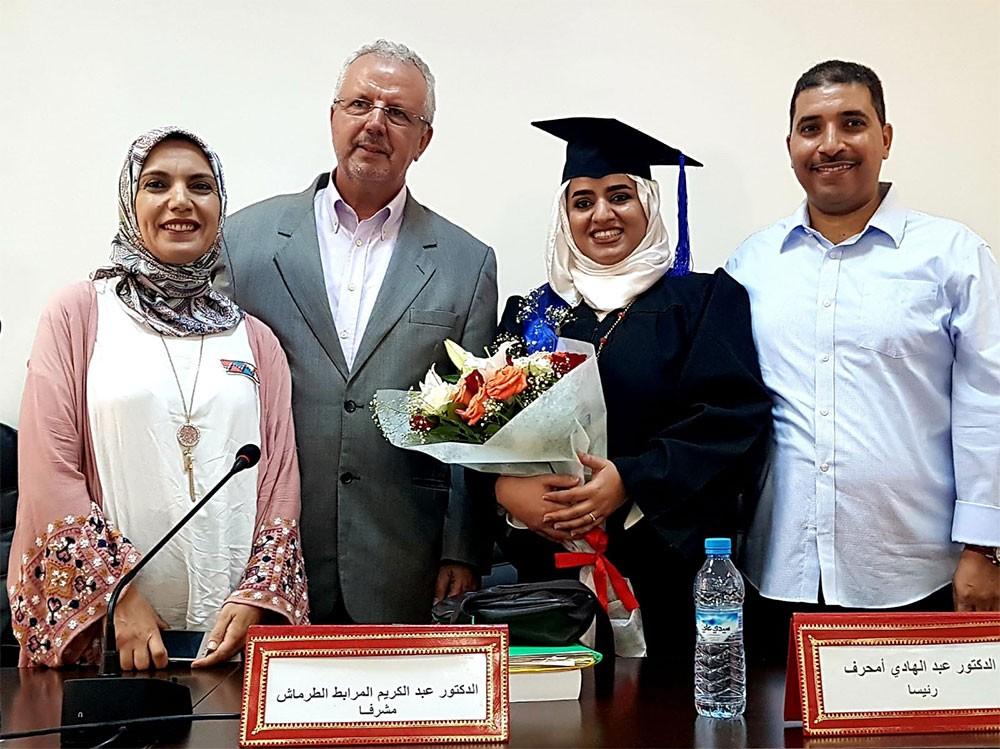 منيرة السبيعي تحصل على الدكتوراه من المغرب