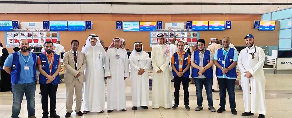 قنصلية المملكة بجدة وطيران الخليج يودعان حجاج البحرين
