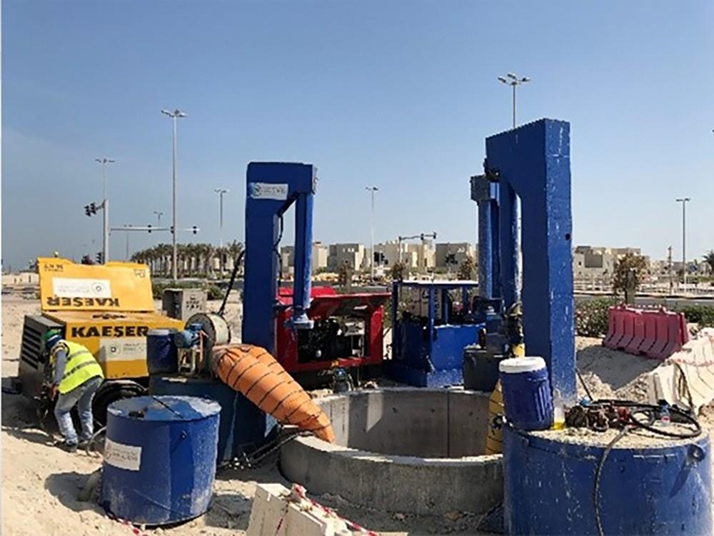 الأشغال تنجز 53% من مشروع ربط شبكة الصرف الصحي بمحطة المعالجة في مدينة سلمان