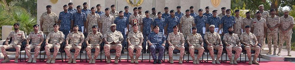 حفل تخريج إحدى الدورات العسكرية المتخصصة للضباط بقوة دفاع البحرين