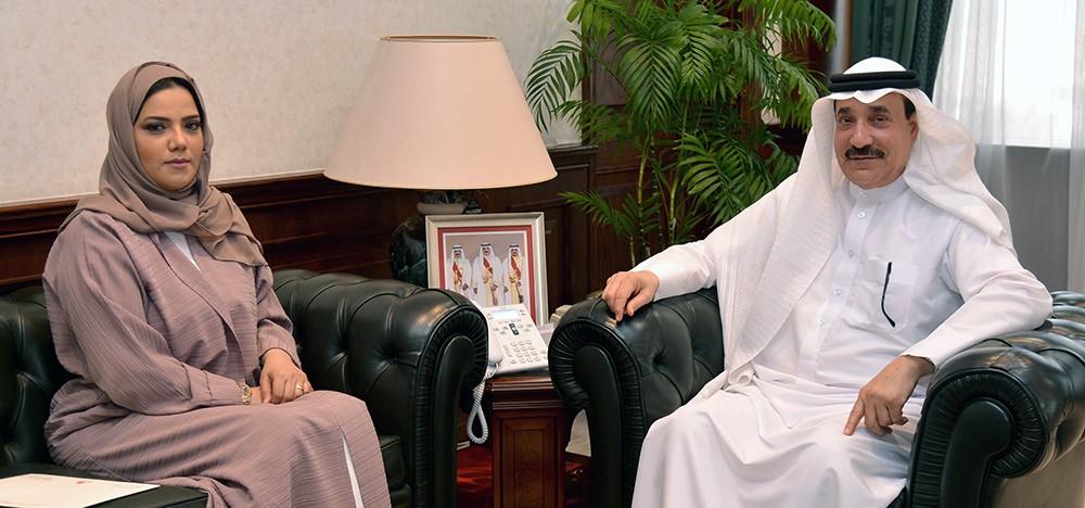 حميدان ينوه بالتعاون القائم بين السلطتين التنفيذية والتشريعية