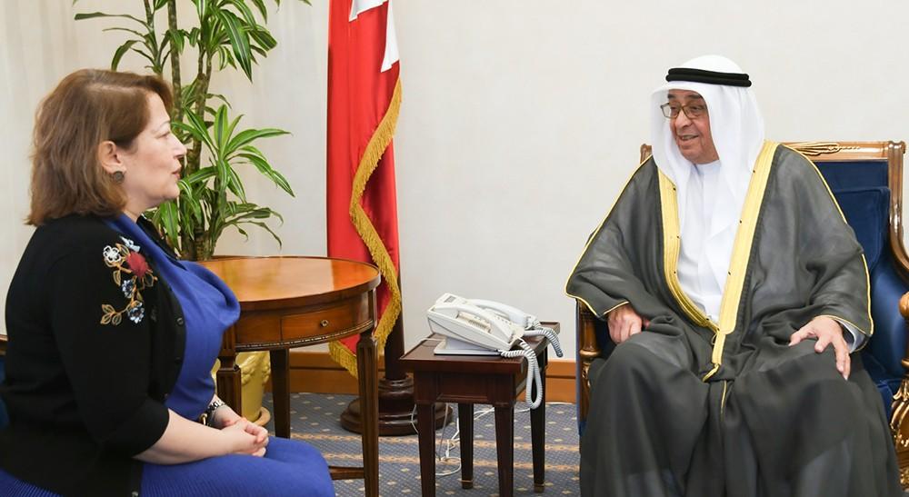 سمو الشيخ محمد بن مبارك يستقبل سفيرة جمهورية مصر