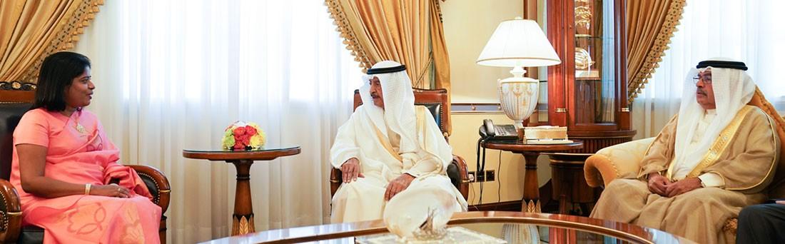 سمو رئيس الوزراء يستقبل سفيرة سريلانكا