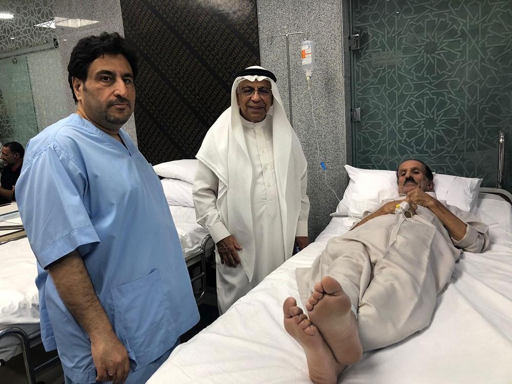 رئيس الأوقاف الجعفرية يتفقد عيادة الإمام الحسين الطبية