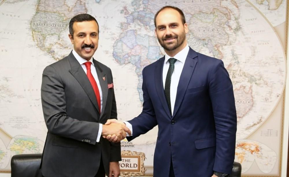 سعادة وكيل وزارة الخارجية للشؤون الدولية يلتقي رئيس العلاقات الخارجية بمجلس نواب جمهورية البرازيل الاتحادية