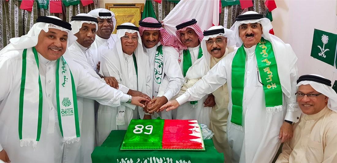 مجلس ابراهيم سبت يحتفل باليوم الوطني السعودي