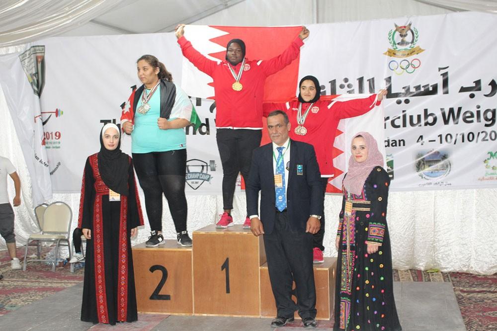 لاعبات المحرق يواصلن التألق والنجومية ببطولة أندية غرب آسيا لرفع الأثقال بالأردن