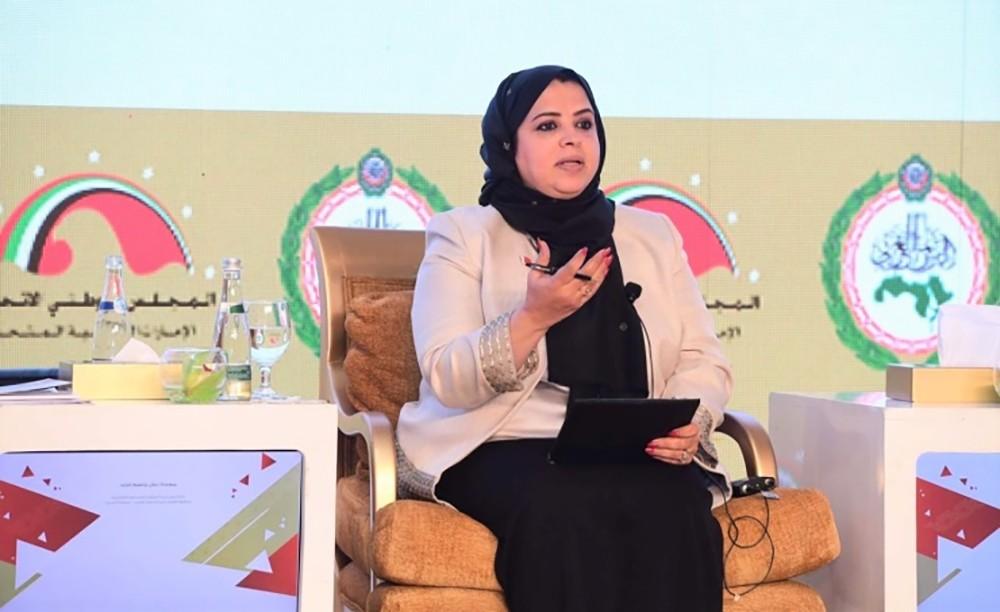 في إطلاق الوثيقة العربية لحقوق المرأة.. الزايد تستعرض نماذج مضيئة لتمكين المرأة تشريعيا