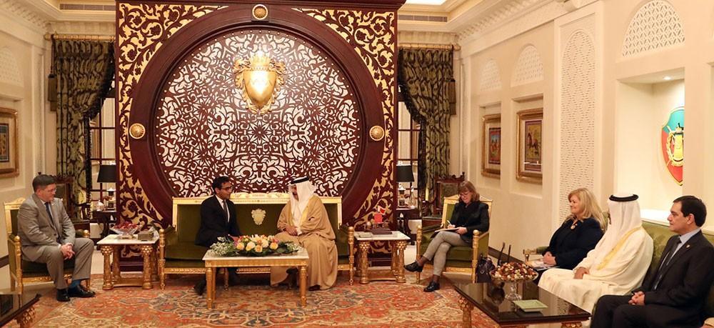 جلالة الملك يستقبل المبعوث الخاص لرئيس الوزراء البريطاني لحرية الدين