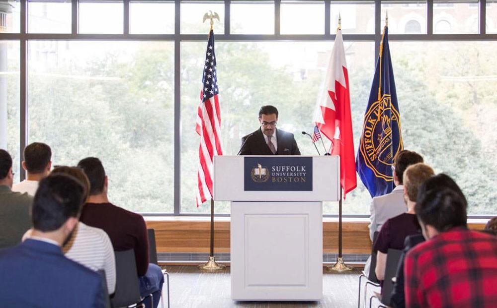 سفير البحرين لدى واشنطن يسلط الضوء على القيم المشتركة التي تربط البحرين والولايات المتحدة