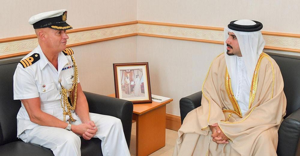محمد بن سلمان يستقبل الملحق العسكري البريطاني