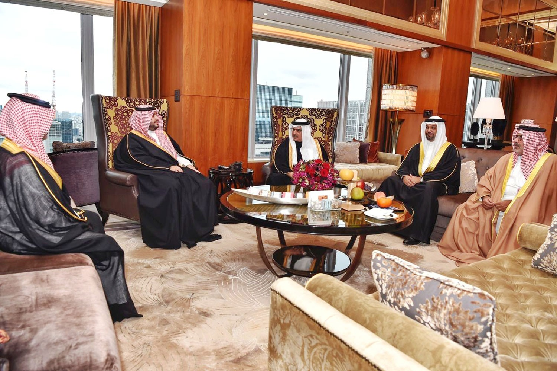 سمو ولي العهد يؤكد على عمق العلاقات الثنائية مع السعودية