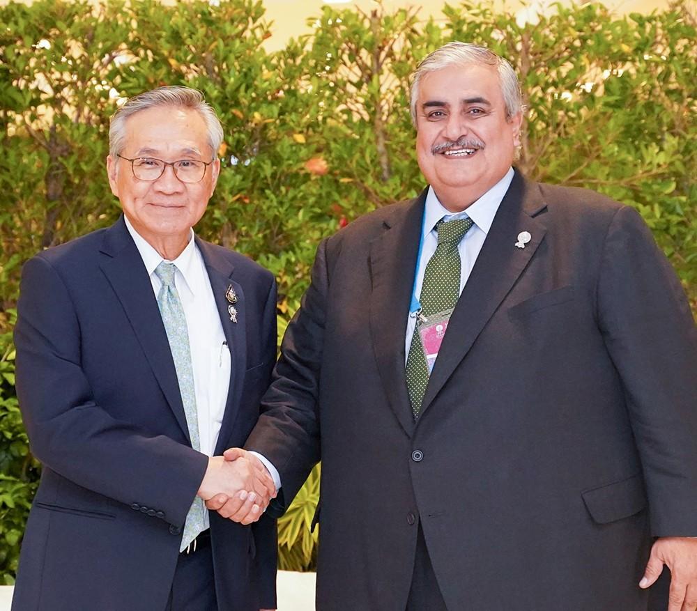 وزير الخارجية يلتقي نظيره التايلندي على هامش اجتماع رابطة دول (الآسيان) ببانكوك