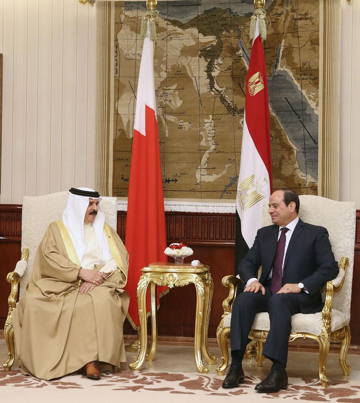جلالة الملك يعقد جلسة مباحثات رسمية مع الرئيس المصري