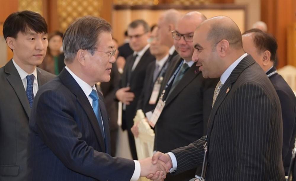 رئيس كوريا الجنوبية يستقبل المدير العام لـبنا مع رؤساء وكالات الأنباء في آسيا